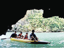 Get close to the nature and try canoeing! A cruiser boat will take you and the canoes out in Phang Nga.