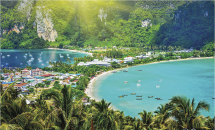 The Island of Phi Phi is divided in Phi Phi Don and Phi Phi Leh.