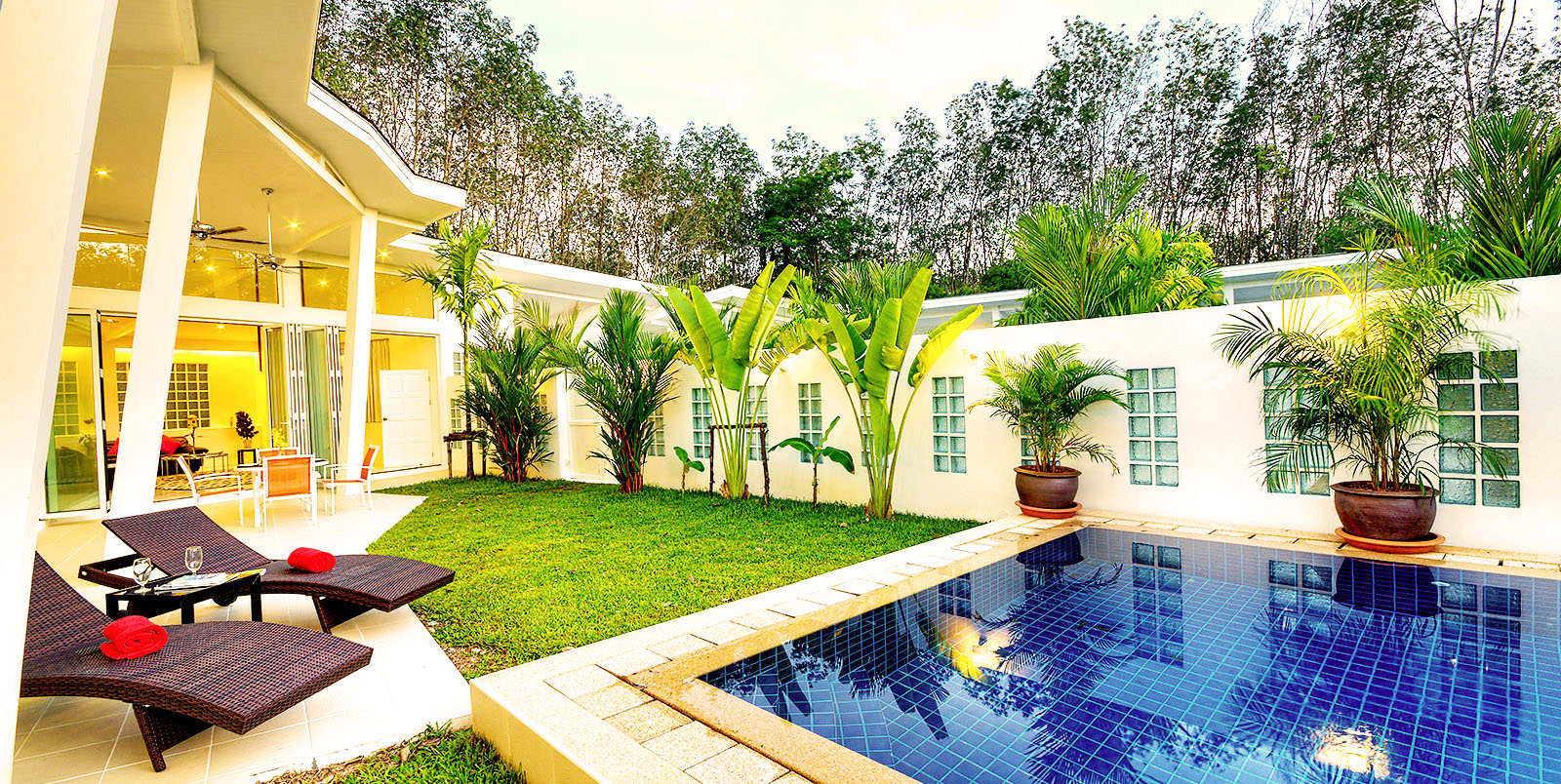 Delta properties villa 3 banana for Piscine jardin tropical